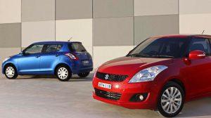 Suzuki Swift hai màu trắng và đỏ