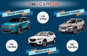 Suzuki Vitara và Hyundai Tucson và Mazda CX-5