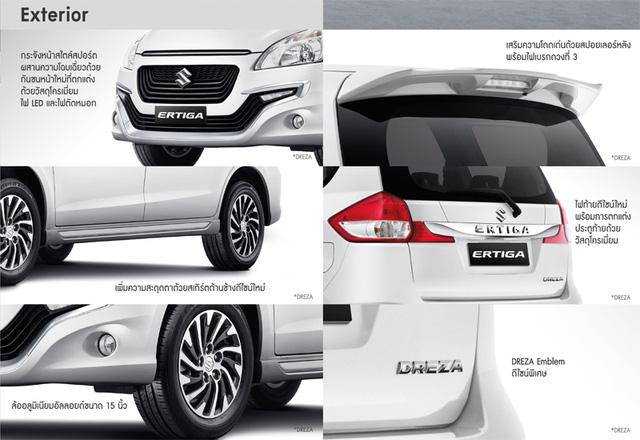 Các điểm riêng của Suzuki Ertiga Dreza 2016.