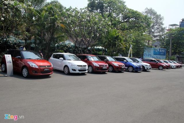 Suzuki Swift được nhiều người sử dụng bởi mức giá thấp.